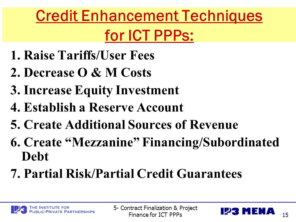 5- Contract Finalization & Project Finance for ICT PPPs16 1.