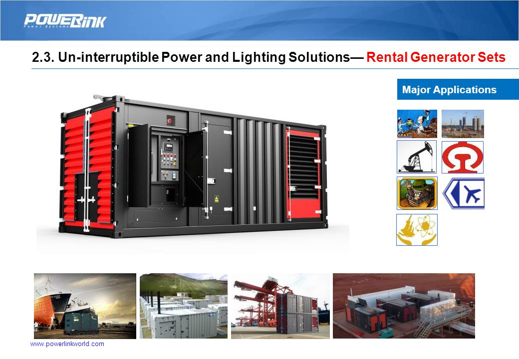 www.powerlinkworld.com Solutions-Potable Lighting Solutions Major Applications