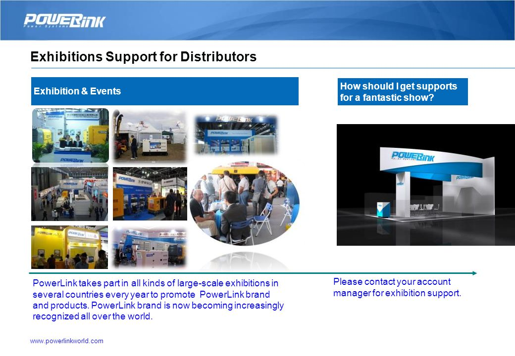 www.powerlinkworld.com Technical documents Special project 5. Distributor Service and Support 3D products application solutions Product training Custo