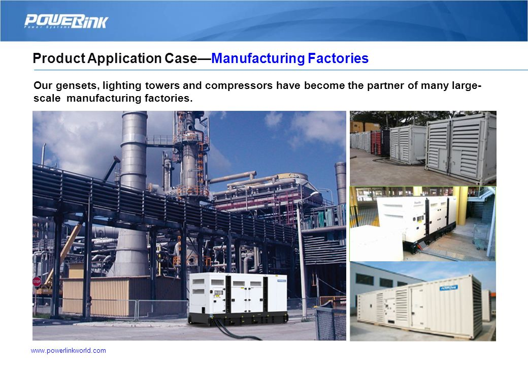 www.powerlinkworld.com Our products are widely used in all kinds of industries. 6. Major Application of Products Hospital, Bank and Telecom Military a
