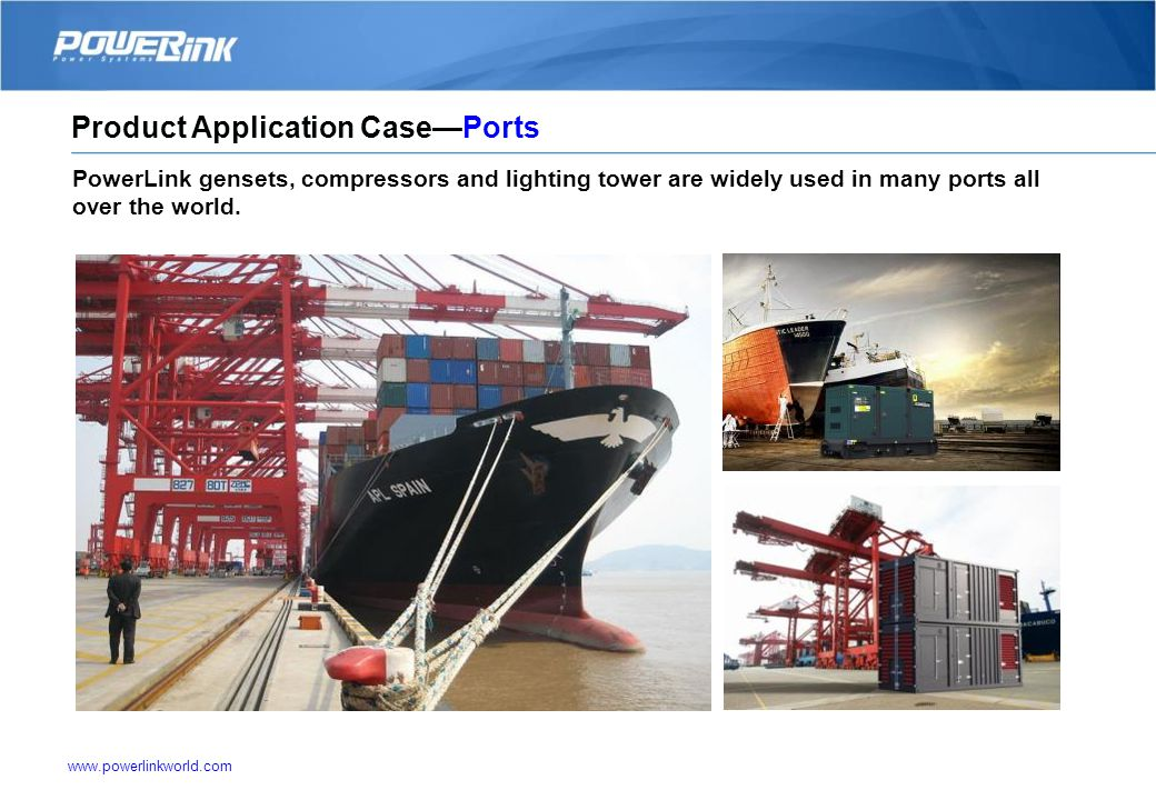 www.powerlinkworld.com PowerLink gensets advantages help to protect the security of bank data and telecom signal. Product Application CaseBank and Tel