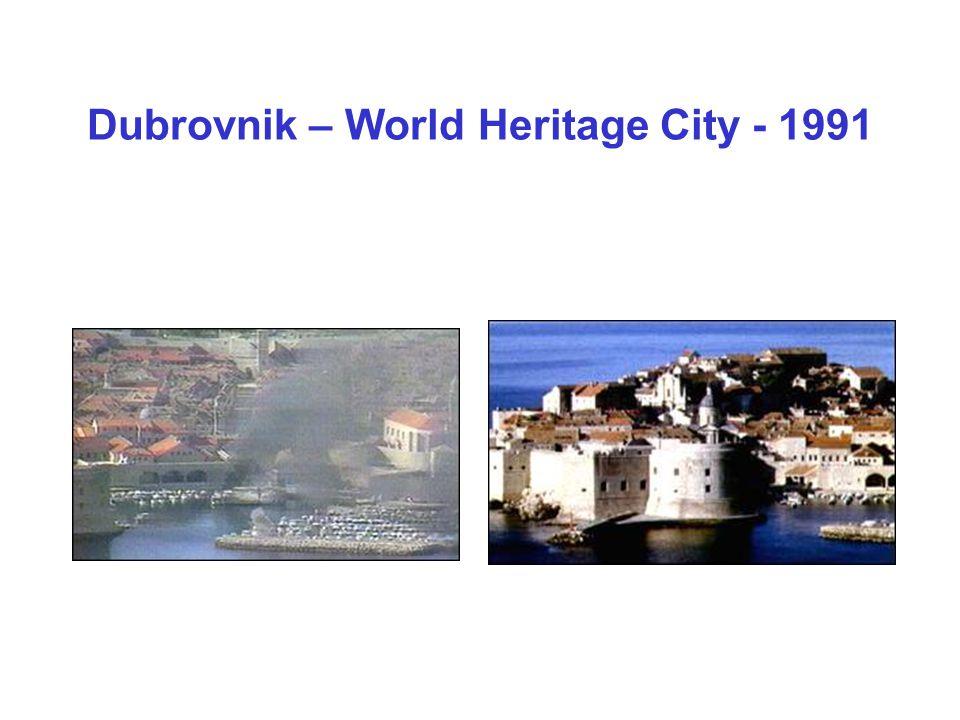 Dubrovnik – World Heritage City - 1991