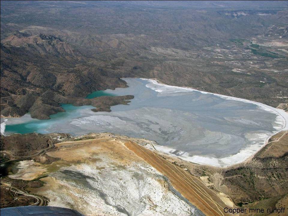 Copper mine runoff