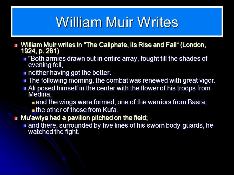 William Muir Writes William Muir writes in