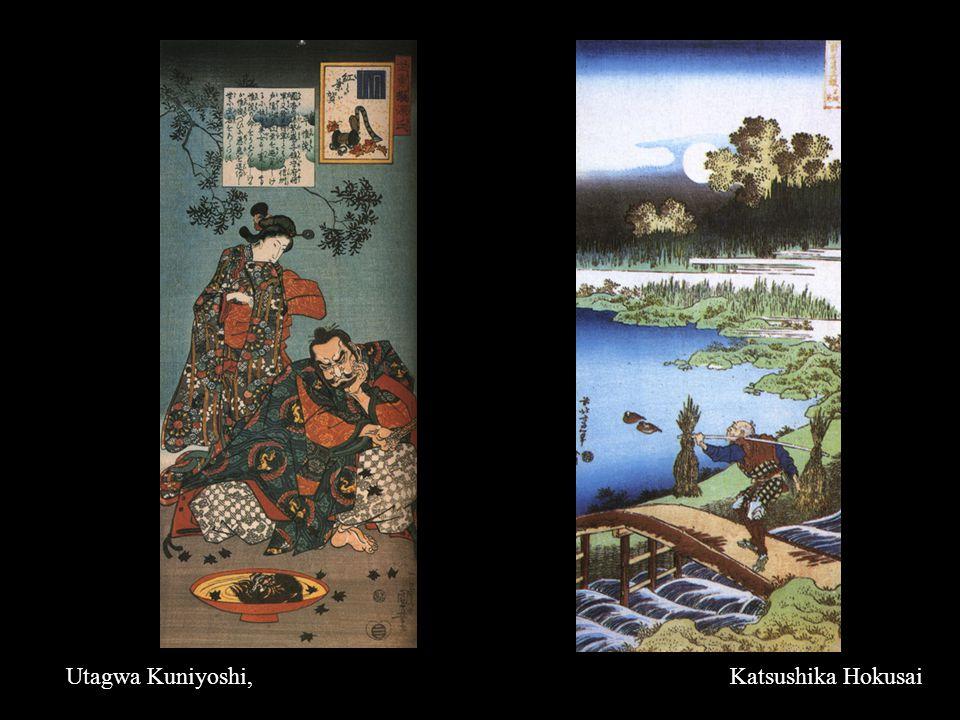 Utagwa Kuniyoshi,Katsushika Hokusai