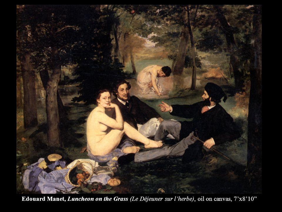 Edouard Manet, Luncheon on the Grass (Le Déjeuner sur lherbe), oil on canvas, 7x810