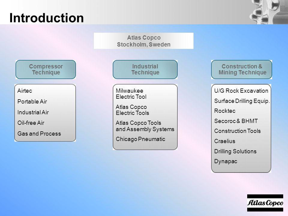 Introduction Construction & Mining Technique U/G Rock Excavation Surface Drilling Equip. Rocktec Secoroc & BHMT Construction Tools Craelius Drilling S