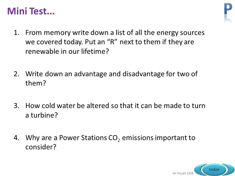 Mr Powell 2008 Index Mini Test...