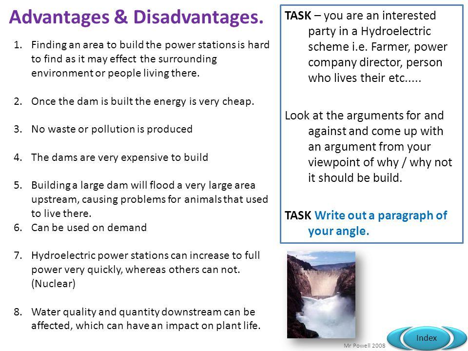 Mr Powell 2008 Index Advantages & Disadvantages.