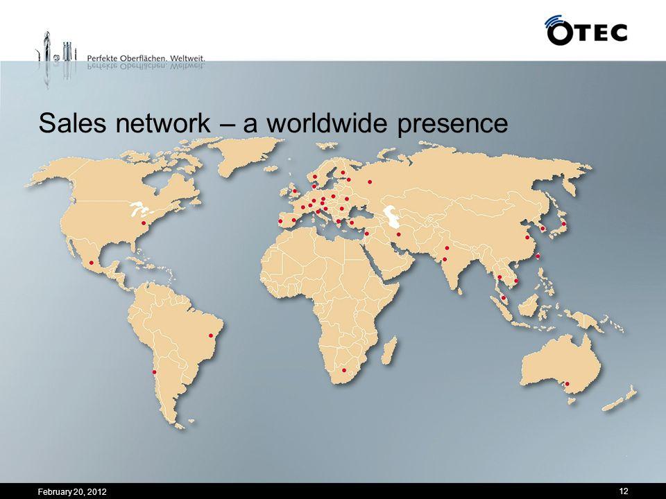 12 Sales network – a worldwide presence