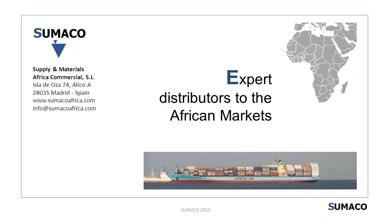 SUMACO 2013.S UMACO Supply & Materials Africa Commercial, S.L.