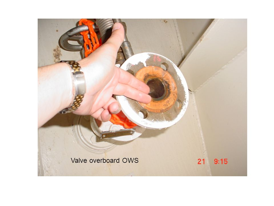 Valve overboard OWS