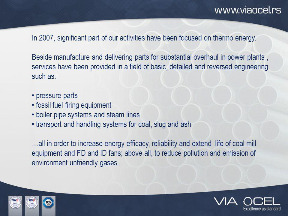 Certificates Wholesale of metal products, engineering and mounting