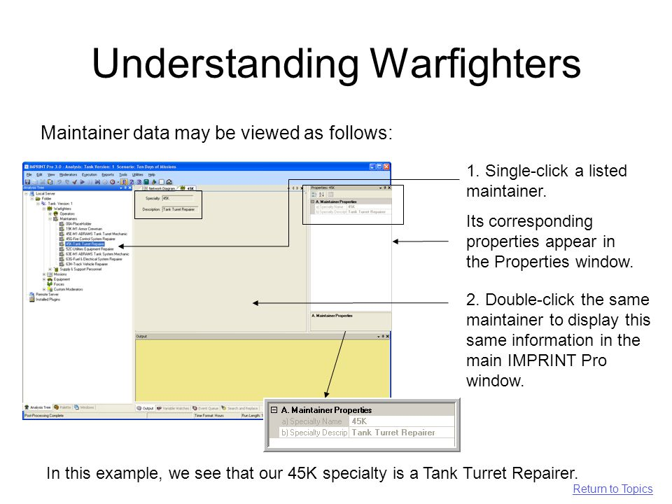 Understanding Warfighters Maintainer data may be viewed as follows: 1.