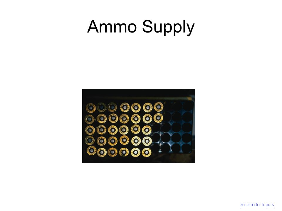 Ammo Supply Return to Topics