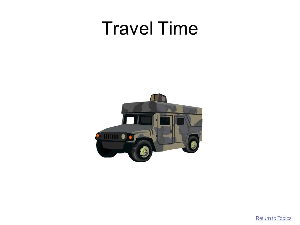 Travel Time Return to Topics