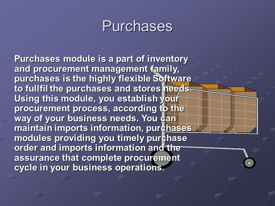 Inventory and Procurement Management PurchasesInventory