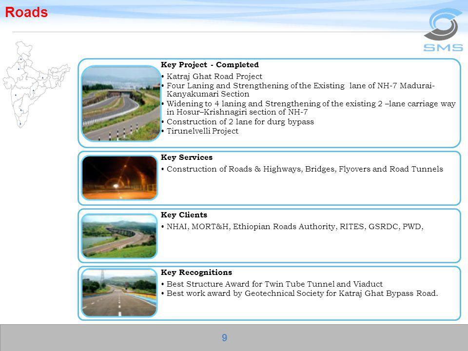 Roads Key Project - Completed Katraj Ghat Road Project Four Laning and Strengthening of the Existing lane of NH-7 Madurai- Kanyakumari Section Widenin