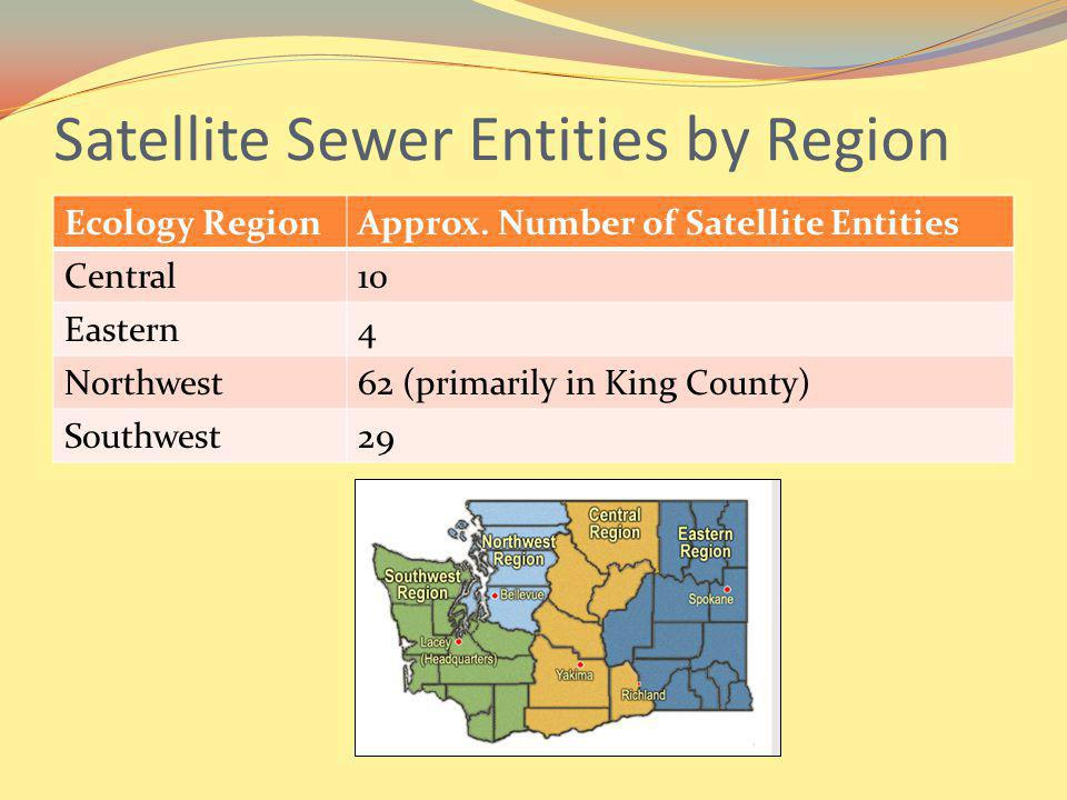 Satellite Sewer Entities by Region Ecology RegionApprox.