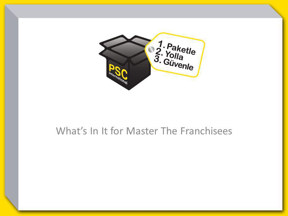 Whats In It for Master The Franchisees