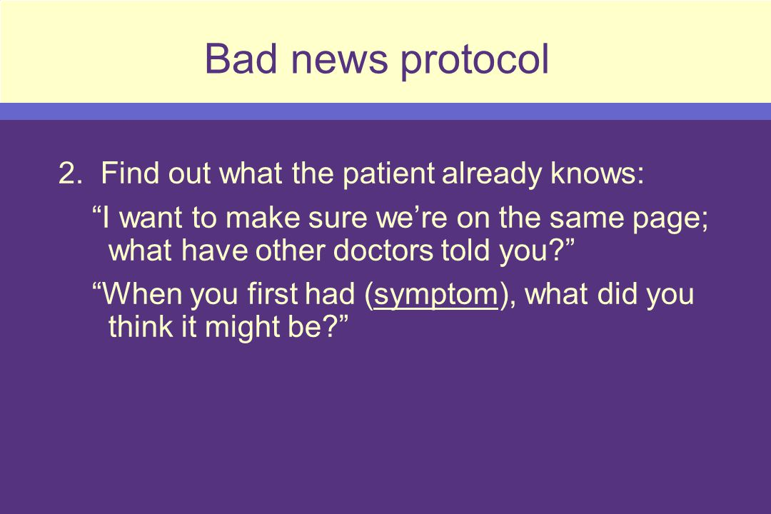 Bad news protocol 2.