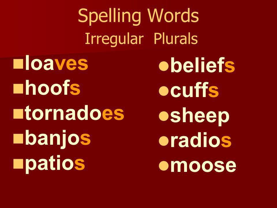 Writing Assignment TE – 187b and 187j Use at least five spelling words to write one-sentence news bulletins that could appear as a crawl at the bottom