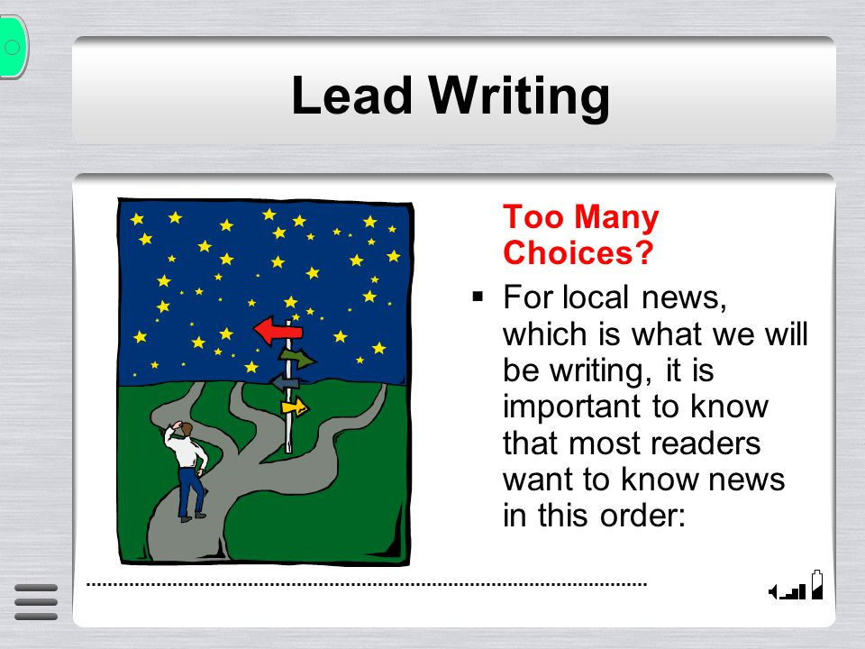 Lead Writing How.