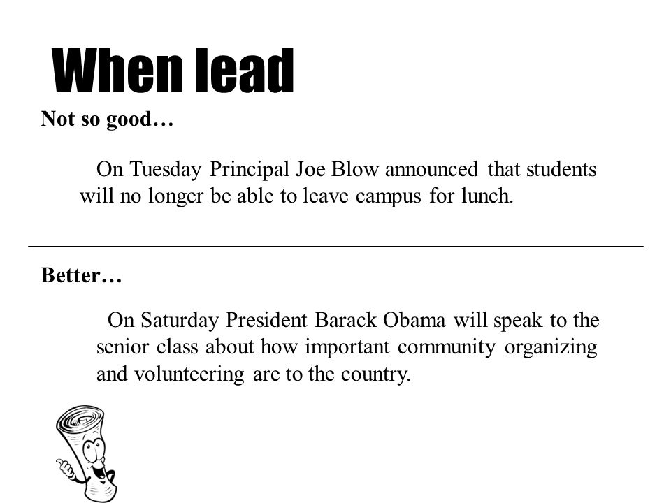 When lead On Saturday President Barack Obama will speak to the senior class about how important community organizing and volunteering are to the country.