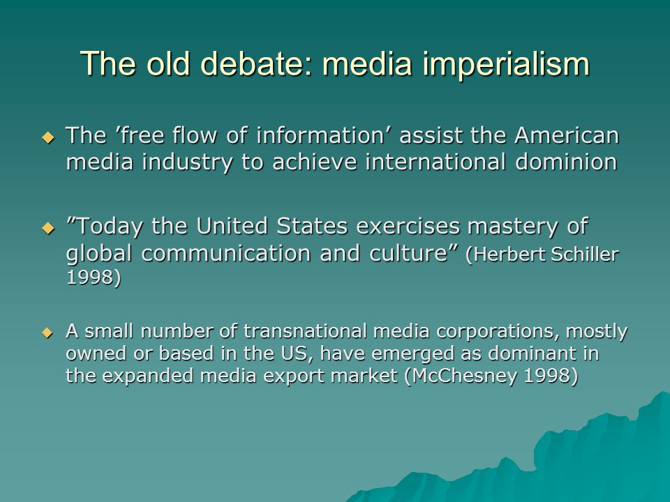 Market orientation and news values Less international news in national news outlets.