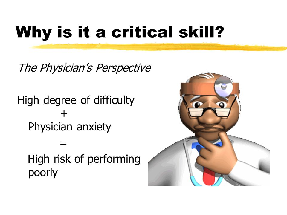 Why is it a critical skill.