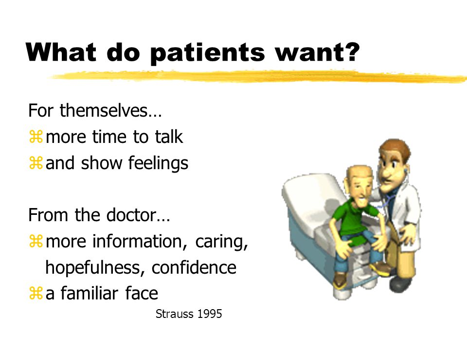 What do patients want.