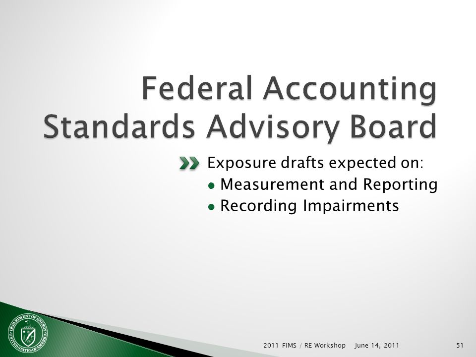 Exposure drafts expected on: Measurement and Reporting Recording Impairments June 14, 2011 2011 FIMS / RE Workshop51