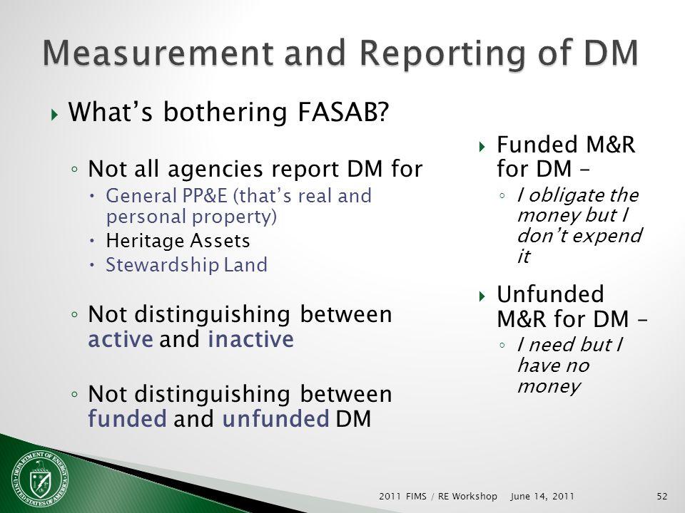 Whats bothering FASAB.