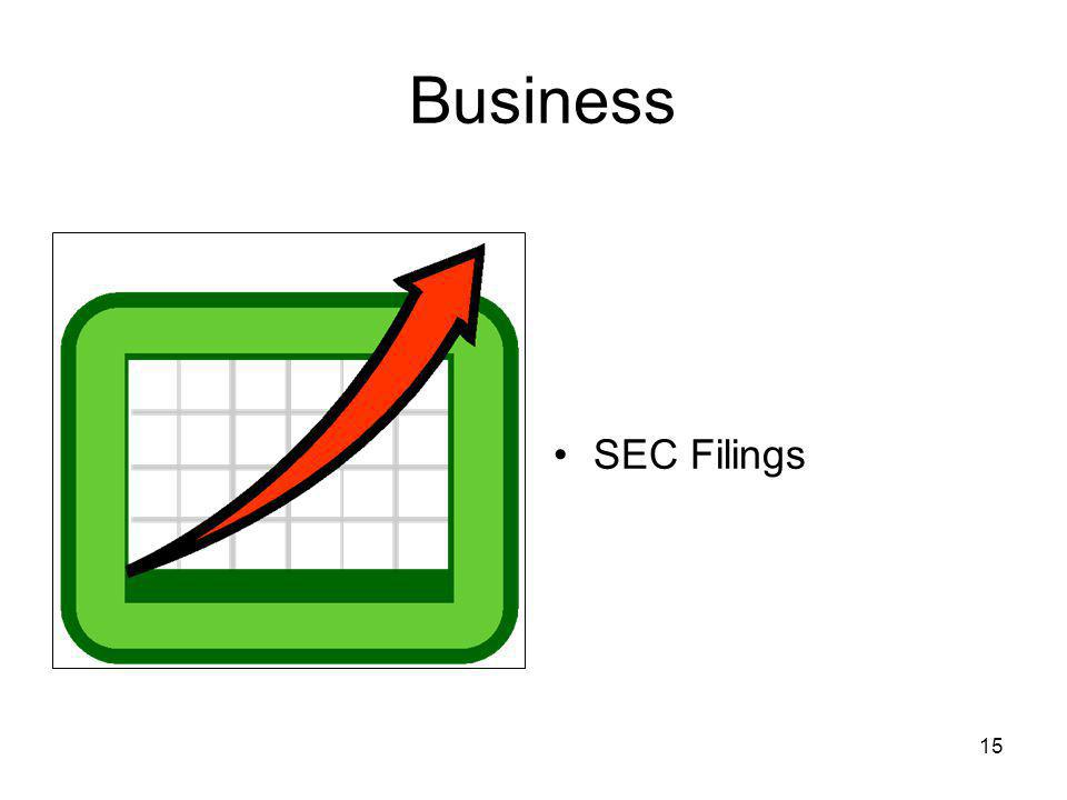 15 Business SEC Filings