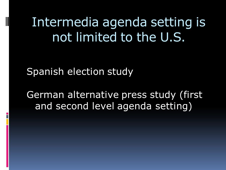 Intermedia agenda setting is not limited to the U.S.