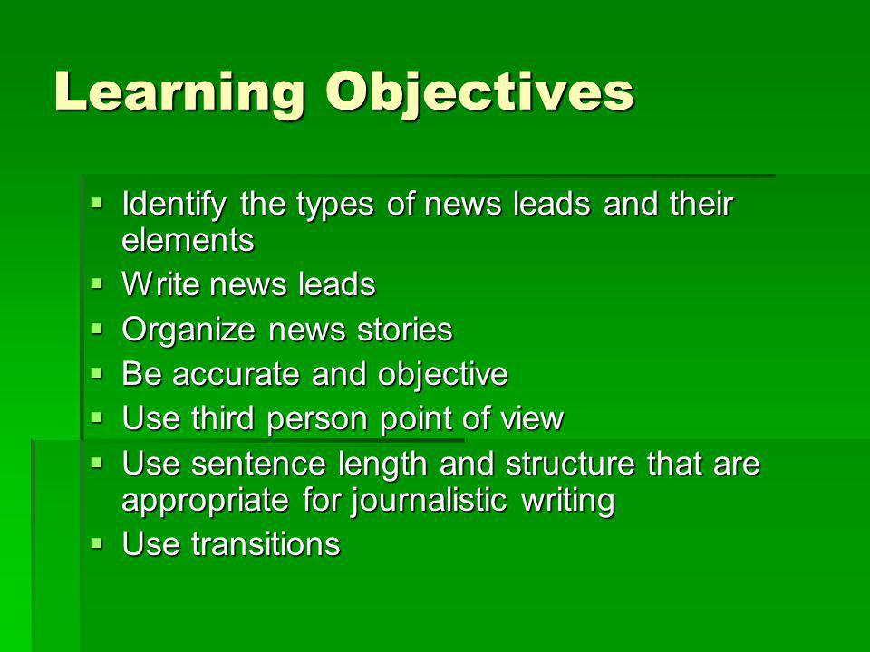 Objectivity Reporters report facts.