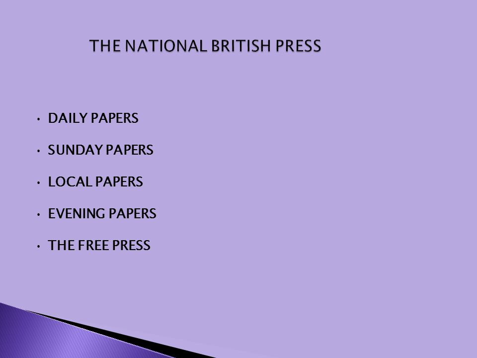 DAILY PAPERS SUNDAY PAPERS LOCAL PAPERS EVENING PAPERS THE FREE PRESS