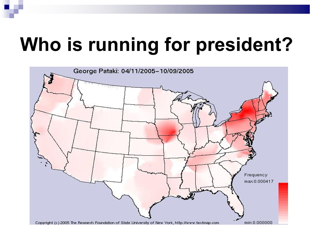Who is running for president