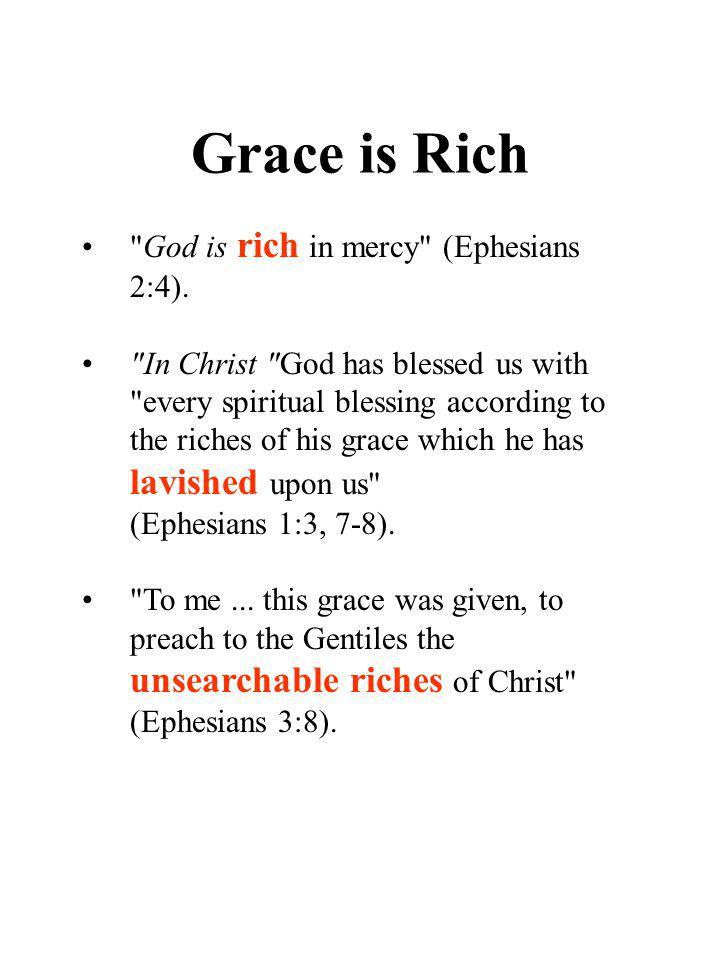 Grace is Rich