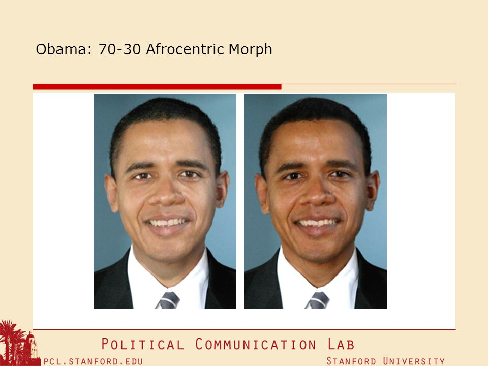 Obama: 70-30 Afrocentric Morph