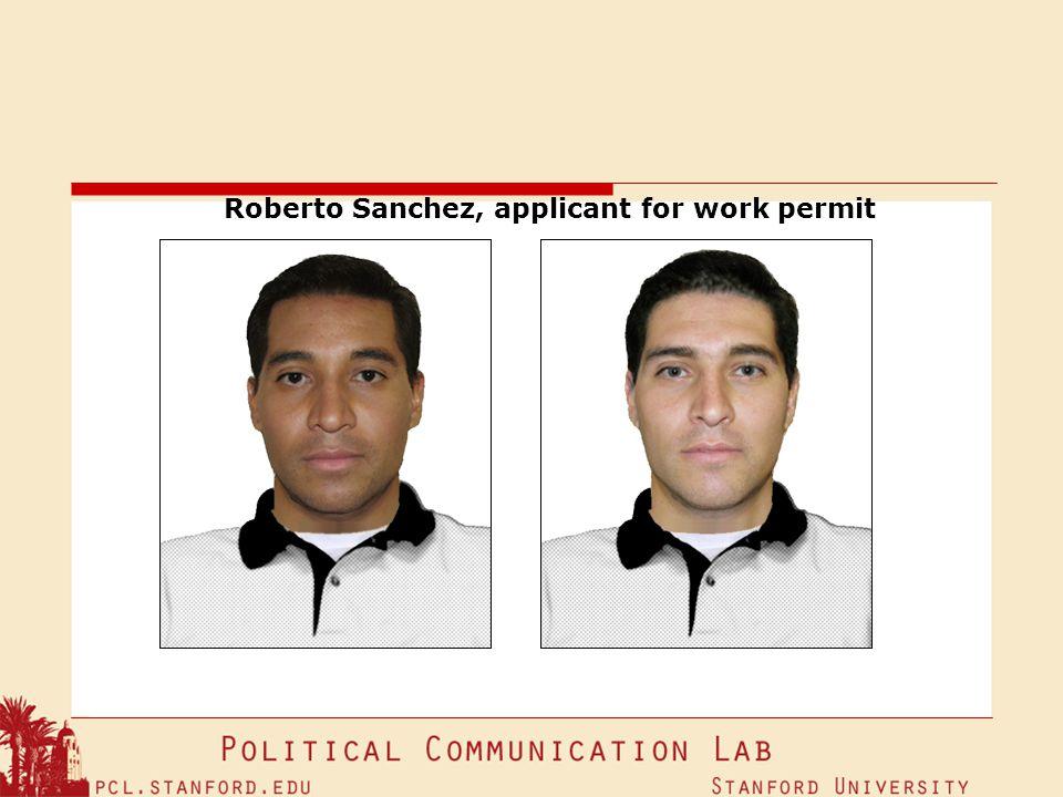 Roberto Sanchez, applicant for work permit