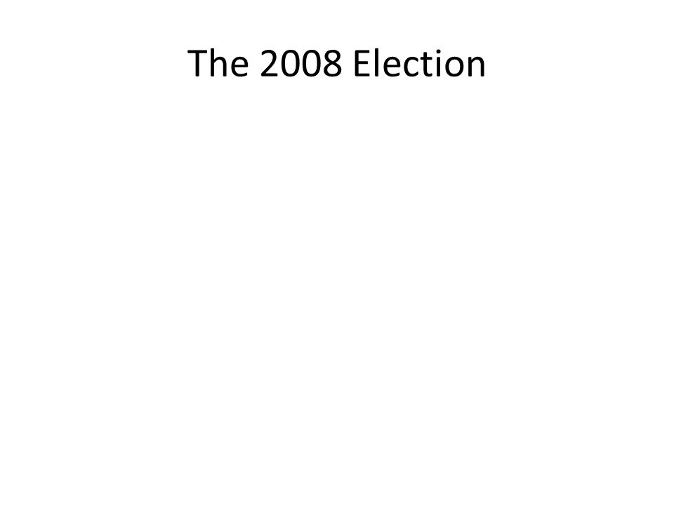 The 2008 Election