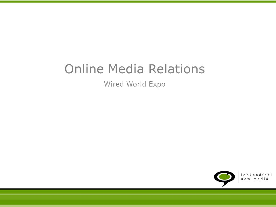 Why online Media Relations is important How to develop a strategy you can live with Which tools should you use Online Media Relations Topics