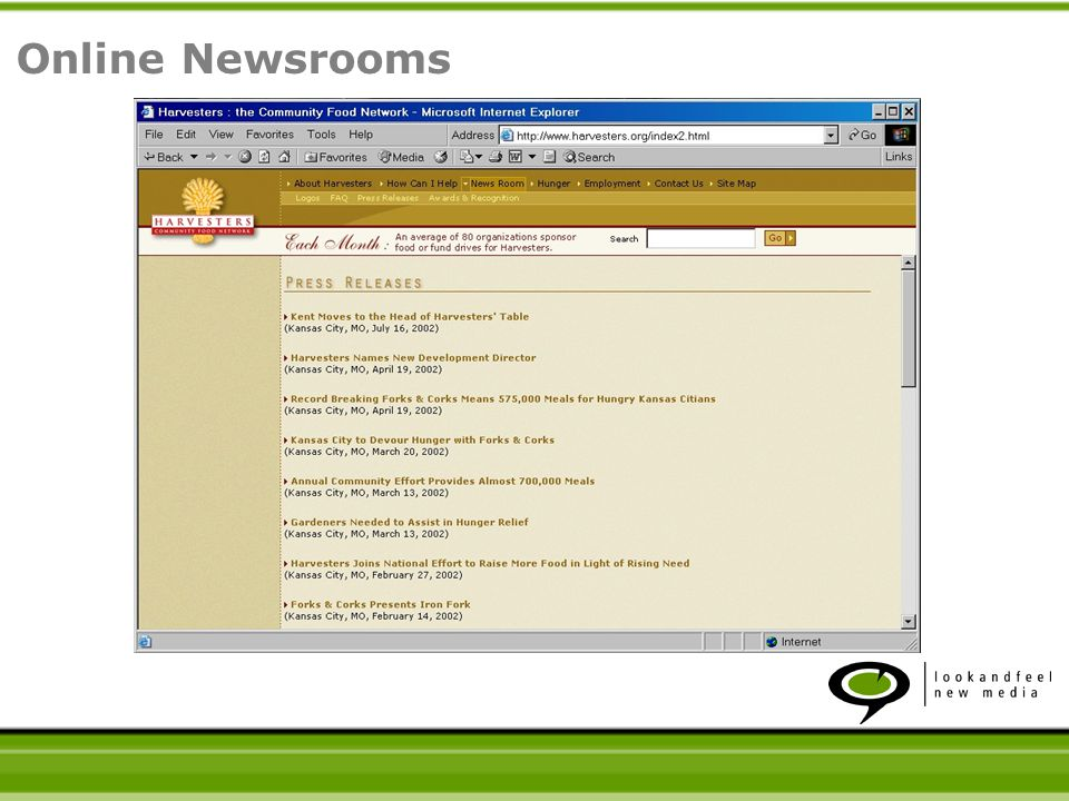 Online Newsrooms