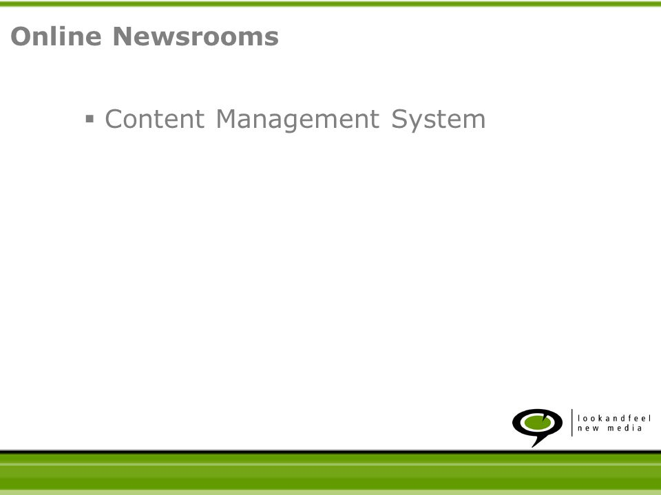 Content Management System Online Newsrooms