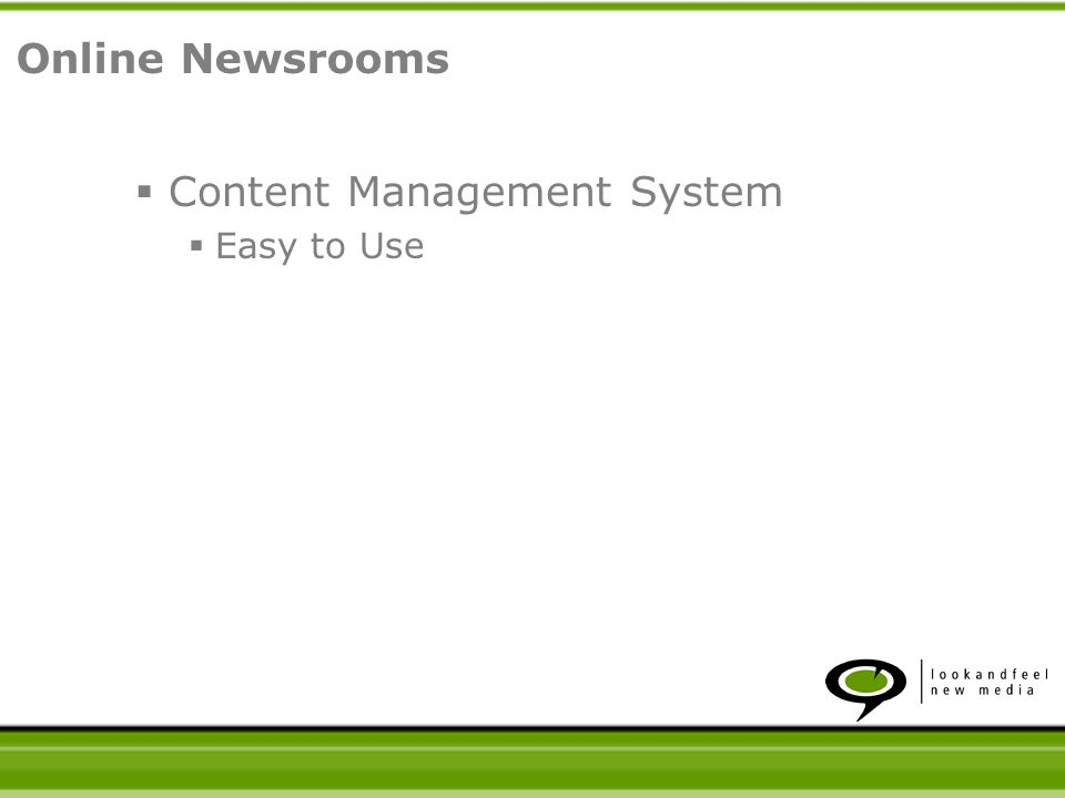 Content Management System Easy to Use Online Newsrooms