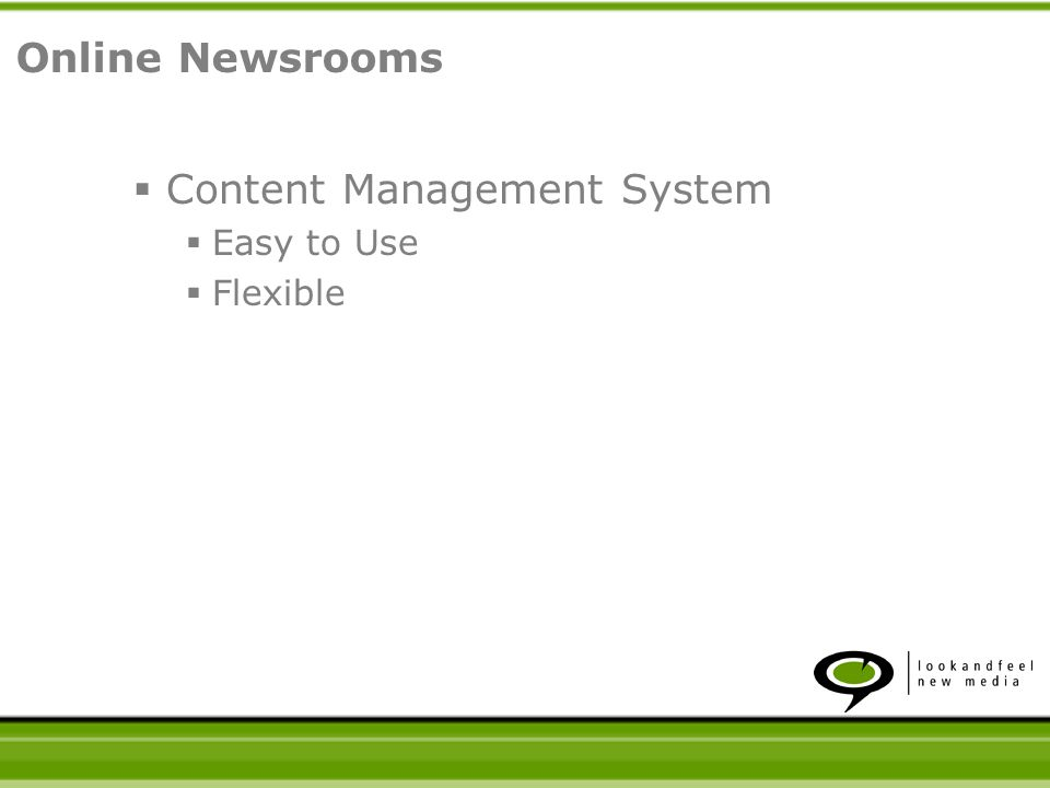 Content Management System Easy to Use Flexible Supports Diverse Content Online Newsrooms