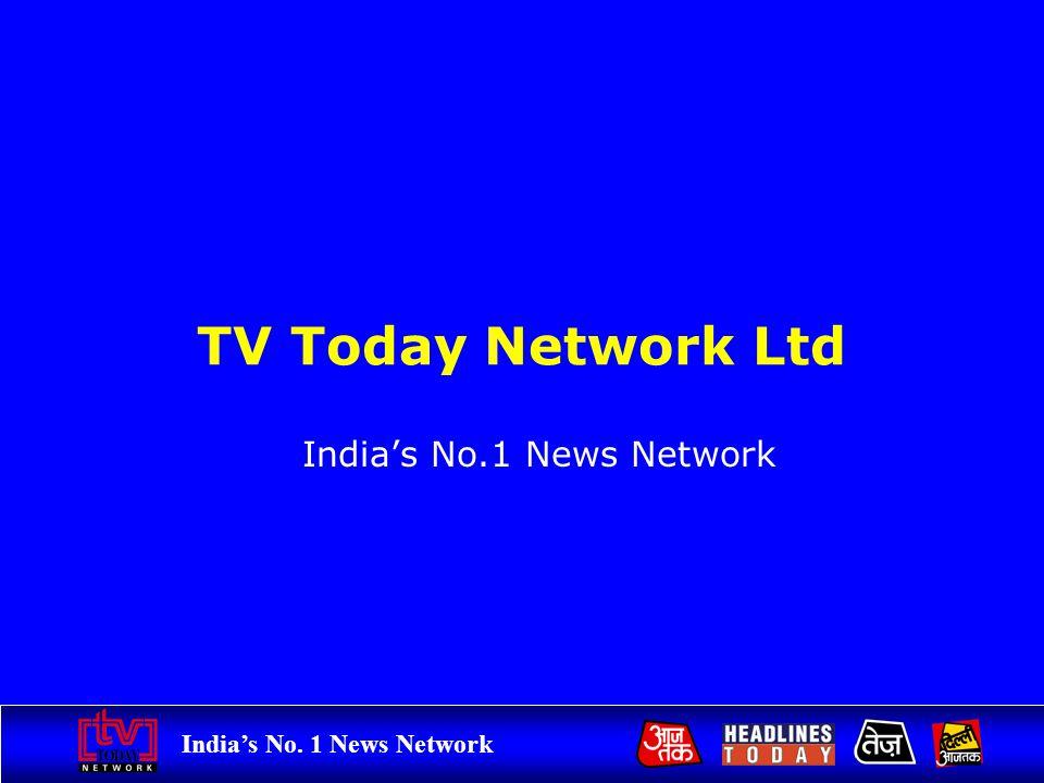 Indias No. 1 News Network TV Today Network Ltd Indias No.1 News Network