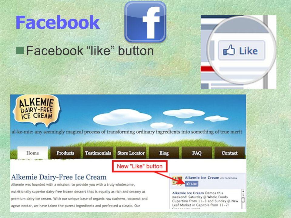 Facebook Facebook like button
