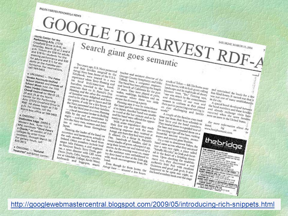 http://googlewebmastercentral.blogspot.com/2009/05/introducing-rich-snippets.html
